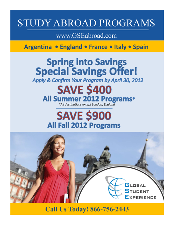 GSE Spring Into Savings April 2012